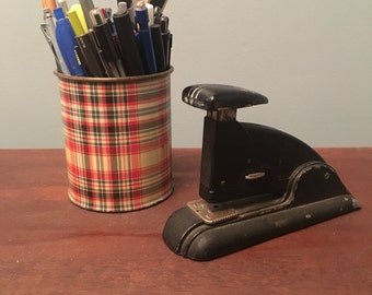 Vintage Art Deco Black Stapler by Speed Products