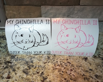 Chinchilla Lover Gift/ Pet Lover Vinyl Sticker/ Chinchilla Sticker