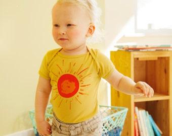 Radiant sun organic bodysuit