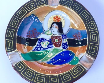 "Vintage Hand-Painted in Japan ""Geisha"" Ashtray - 1930 - 1940's"