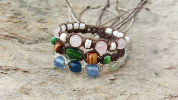 Stackable Hemp Bracelets from Creative Earth Jeweler