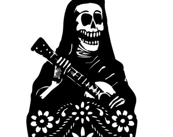 Day Of The Dead Decal sticker wall art dia de los muertos car graphics room decor emo goth gothic metal AA55