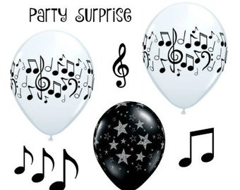 Music Notes Balloons Musician Orchestra Band Musical Notes Party Decoration Music Balloons