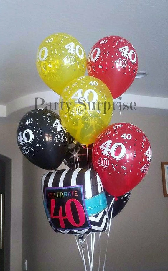 40th birthday balloons 40th anniversary balloons latex for Decoration 40th anniversary