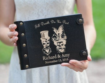 Skeleton, Halloween, Wedding Guest Book, Custom Guest Book, Wedding, Autumn Wedding, Guest Book Ideas, Halloween Wedding, Guest Book, Skull