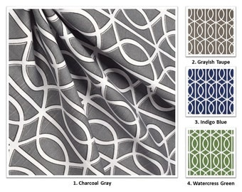 """5 Colors; Handmade Cotton Drapery Panel /Curtain; Dwell Studio Bella Porte Collection; 50"""" Wide; Extra Long up to 228"""""""