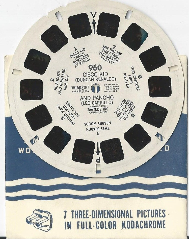 Cisco Kid And Pancho View Master Reel