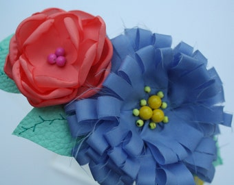 BLUE CORAL - CITURS Double Flower Bloom Headband