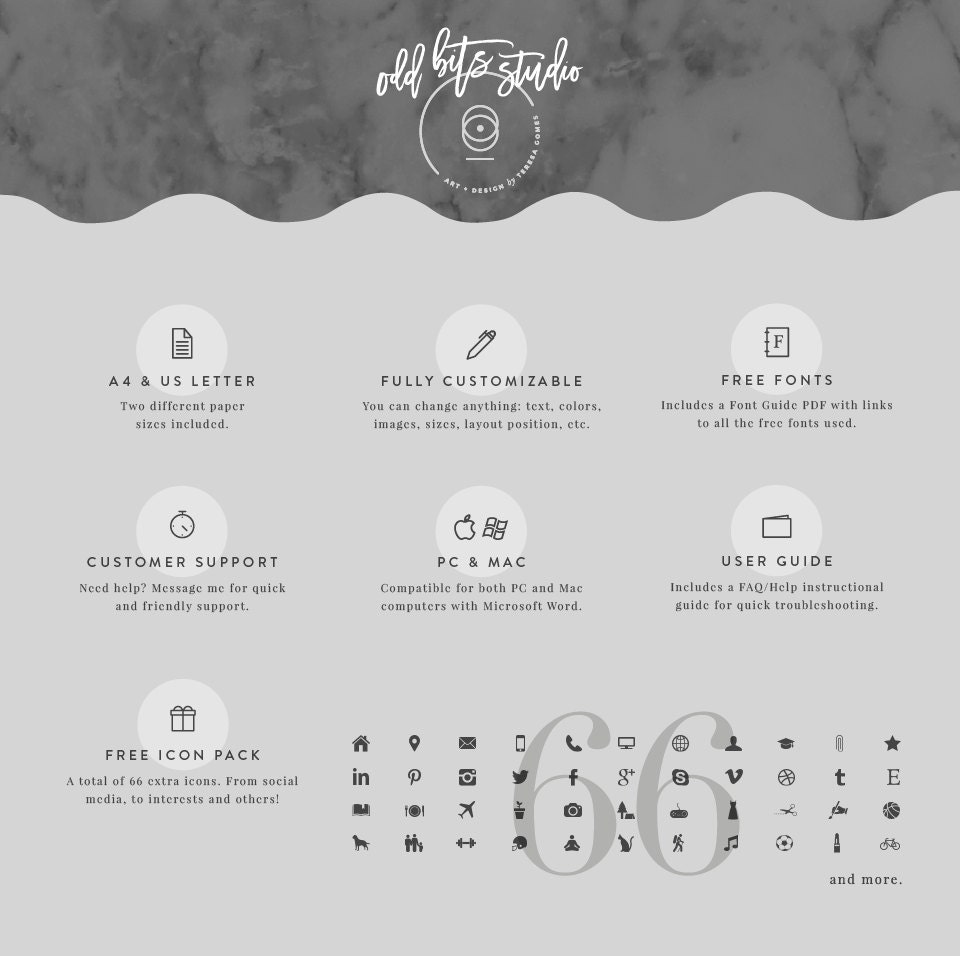 professional resume template  u0026 cover letter icon by