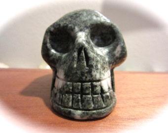 Preseli Bluestone Carved Crystal Skull - Stone of Stonehenge!