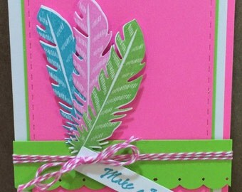 "Handcrafted ""Make a Wish"" birthday card"