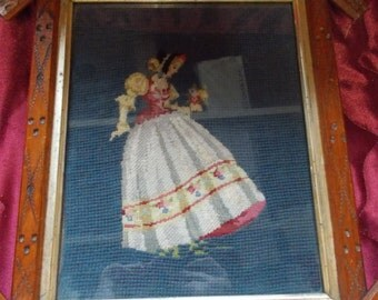 Antique Crotched Lady with Flower Iris Frame (1572)