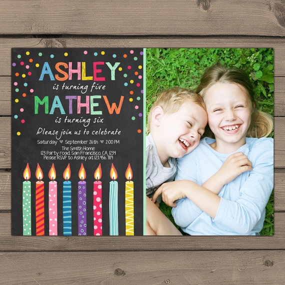 Joint birthday invitation joint birthday party invitation candles il570xn filmwisefo