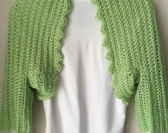 Lime Green Shrug With Versatile Sleeves