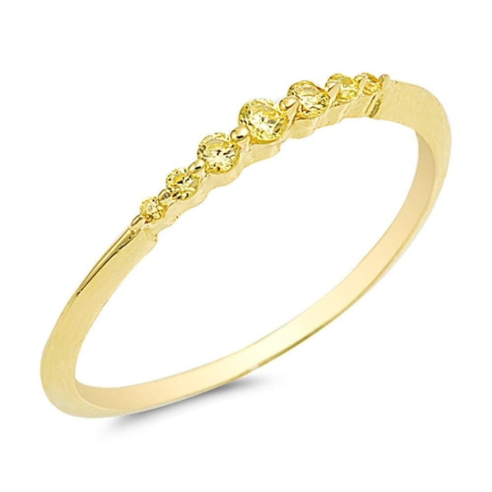 2mm Thin Eternity Wedding Engagement Band Ring Sterling Silver Pink Yellow CZ