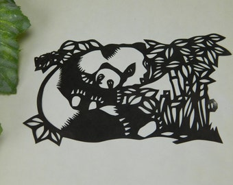 Vintage Mama and Baby Koala Silhouette Paper Cutting