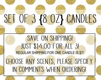 Set of 3 (8 oz) Candles!!!