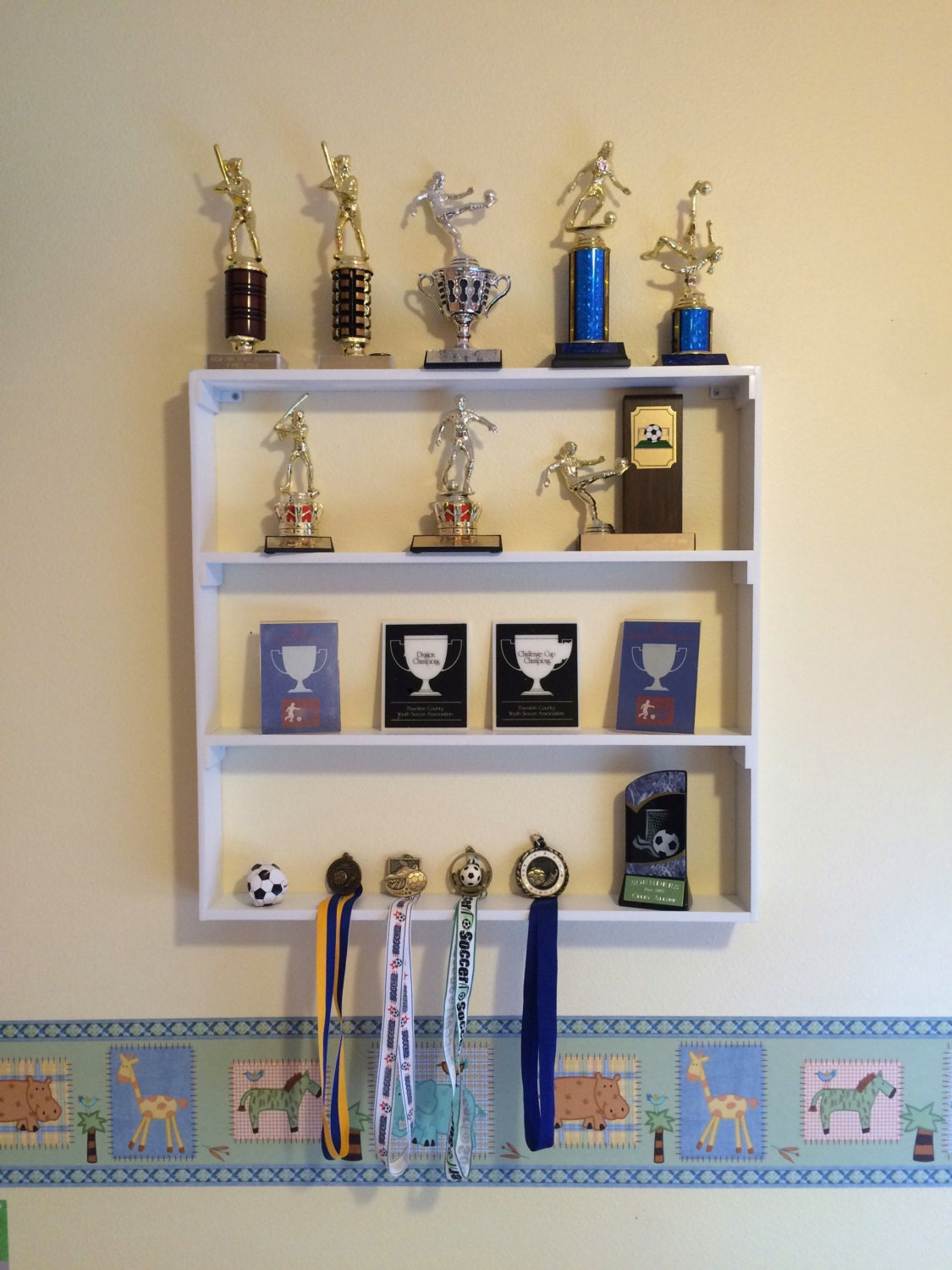 Trophy Shelf Plaques And Medal Display Rack Shelf Home