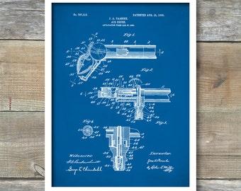 Airbrush Patent, Paasche Turbo Airbrush Poster, Airbrush Print, Airbrush Art, Airbrush Decor, Airbrush Wall Art, AirbrushBlueprint, P310