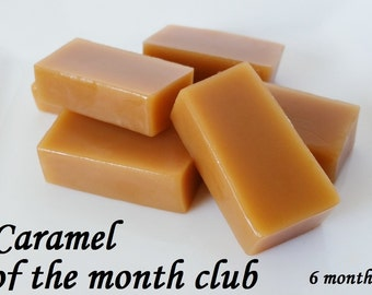 Caramel of the Month Club, 6 month Gift Subscription, 1/4 lb, Free Shipping