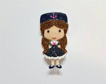Navy Girl  Needle Minder