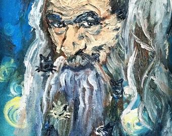 Gandalf Kittybeard- Original and Prints