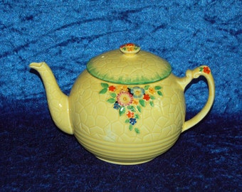 Crown Devon Garden Path Large Teapot Extremely Rare Art Deco 1920s