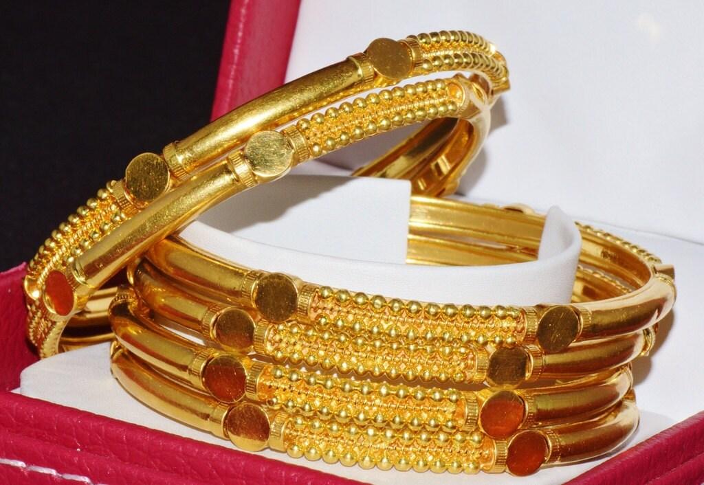 22K Gold Bangles Gold Bangles Estate 22k 916 KDM by exoticgold