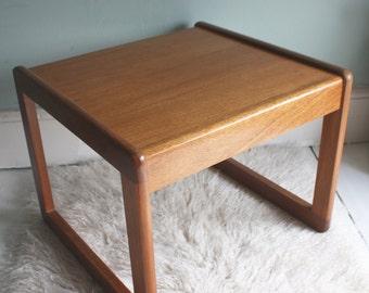 Square, Teak, 1960s coffee table
