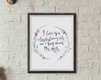 Custom Handdrawn Handwritten Typography Quote Print Made to Order