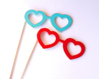 Heart  Glasses Photo booth Props, Wedding Photo Booth Sign, Photo Booth Props Graduation, Photo Booth Props Prom, Party Decoration Kit