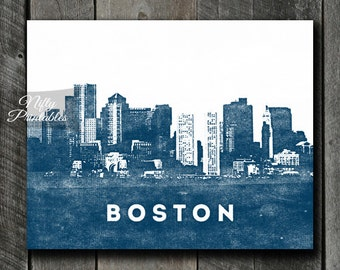 Boston Wall Art boston decor | etsy