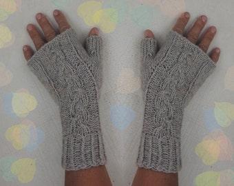 Fingerless Gloves 100% Cashmere Warm Cozy Hand Warmers Stocking Stuffers Elegant Design Women Gloves