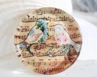 Song bird cabochon