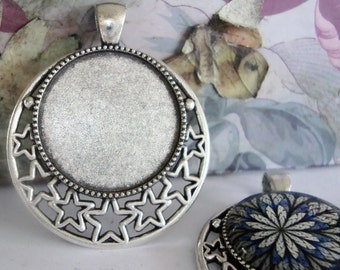 Stars Cameo Base Setting,Cabochon Base Setting,Gypsy Cabochon