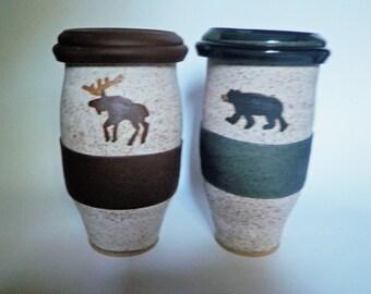 Bear or Moose Travel Mug