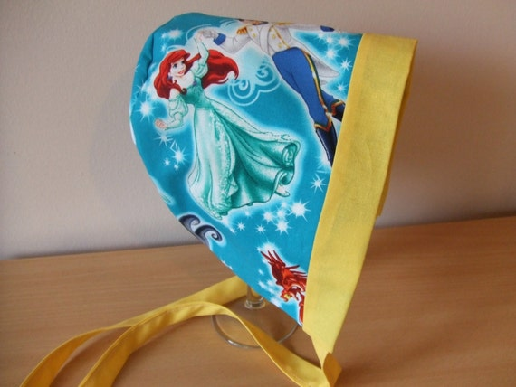 ariel and toss baby bonnet sunhat baby shower gift 3 6 months