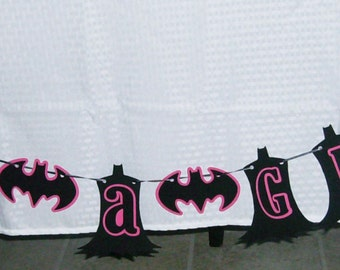"Batgirl ""It's a Girl"" /Super Hero Banner / Batgir Baby Shower (598B)"