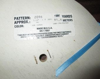 "1/4"" Copen Blue Ribbon Approx. 80 on Spool"
