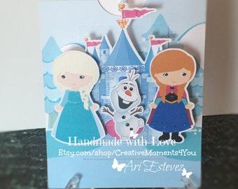 Frozen Cutie Pop Up Invitations Pull style