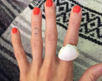 Sea Funk Collection: Folly Seashell Ring - Beach Jewelry - Rings