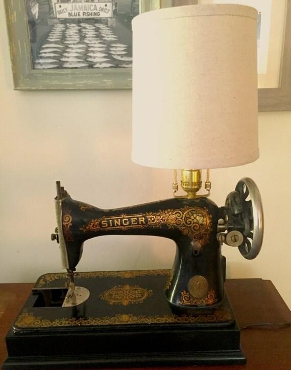 Antique Singer Sewing Machine Lamp