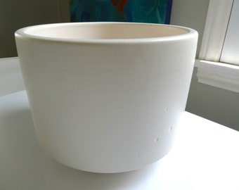 Vintage Matte White Gainey C-12, Architectural Pottery Planter, Mid Century Modern Pottery