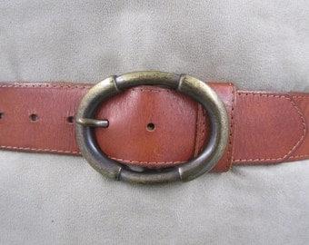 Wrangler tan brown genuine leather belt