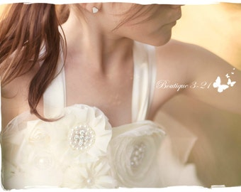 Ivory Flower Girl Dress, Ivory Tutu Dress, Ivory Tulle Dress, Ivory Dress, Ivory Wedding, Ivory