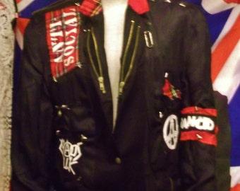 one-off PUNK/Seditionaries style bespoke jacket -40R.ANTI-SOCIAL