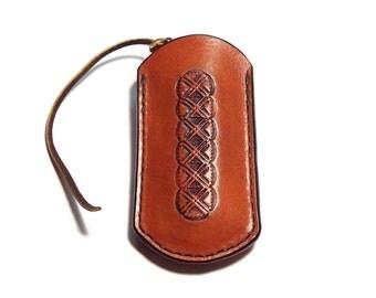 Large Knife Sheath w/belt loop Custom Leather Flat Knife Pouch