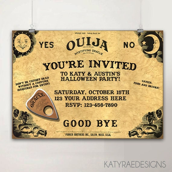graphic about Printable Ouija Board named Ouija board halloween printable