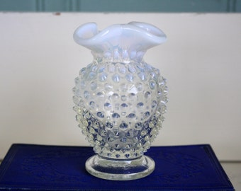 Fenton French Opalescent Bud Vase Mini Vase Hobnail