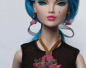 """OOAK jewelry set for 16"""" Tonner dolls, Tulabelle, Sybarites, Poppy Parker Fashion Teen"""